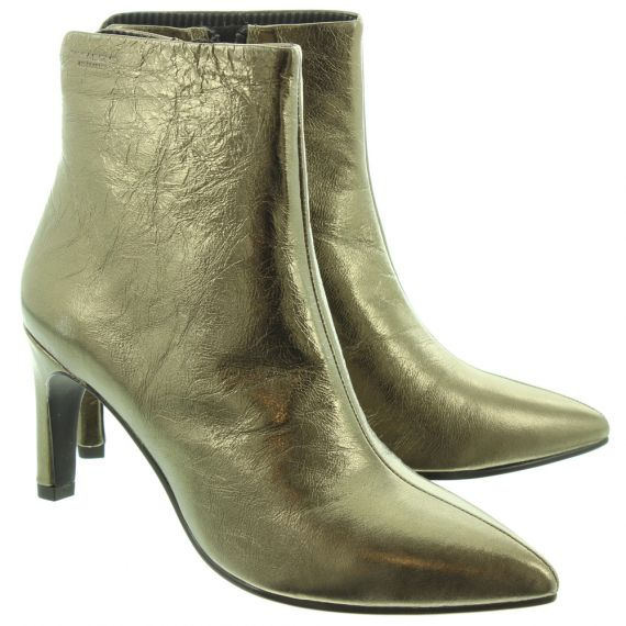 VAGABOND Ladies 4618 Heel Ankle Boots In Bronze
