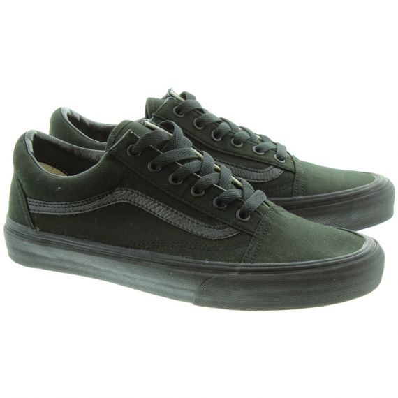 VANS Canvas Old Skool Shoes in All Black