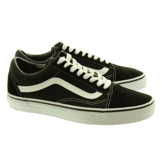 VANS Canvas Old Skool Shoes In Black
