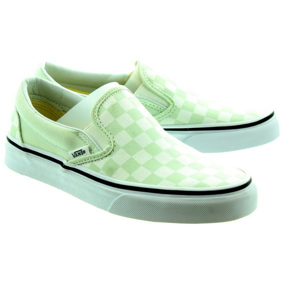 VANS Checkerboard Slip On Shoes In Blue Flower