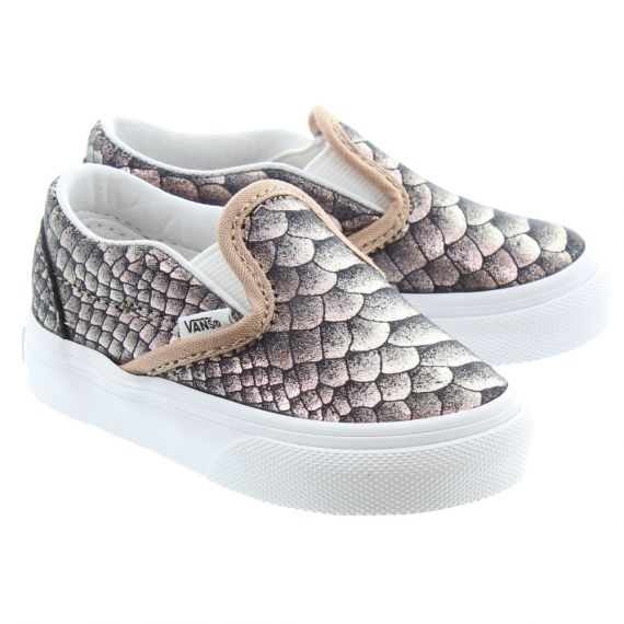 VANS Classic Slip Kids Shoes In Snake