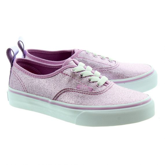 VANS Kids Authentic Glitter Lace Shoes In Pink Glitter
