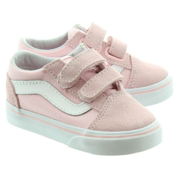 VANS Kids Old Skool Velcro In Pink