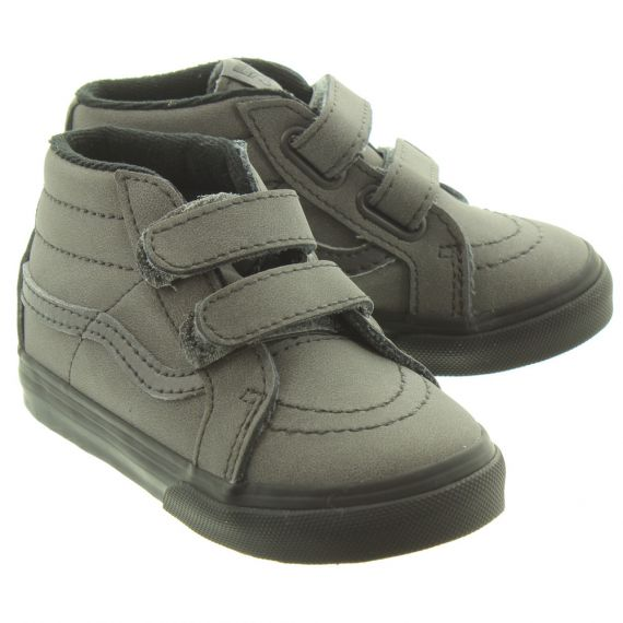 VANS Kids SK8-Mid Velcro Boots In Grey