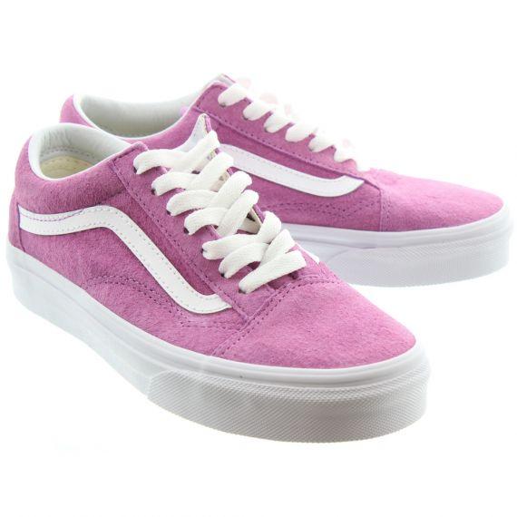 VANS Ladies Old Skool Shoes In Pink