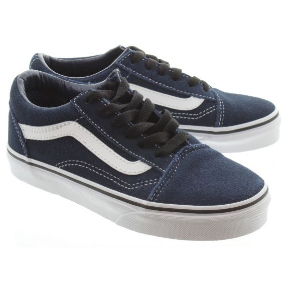 VANS Old Skool Kids Shoes In Navy