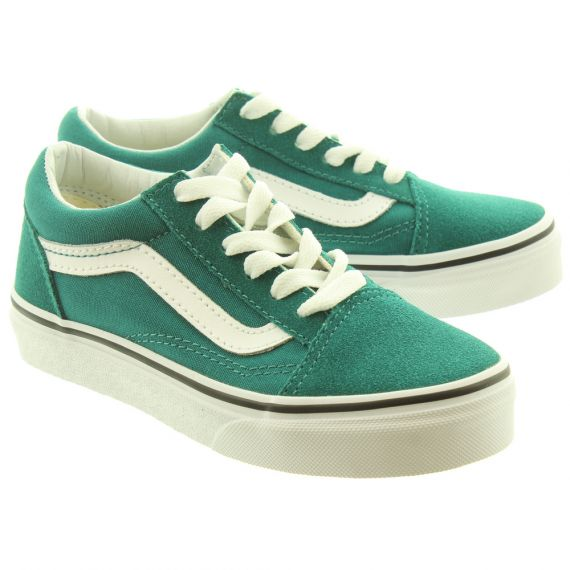 VANS Old Skool Kids Shoes In Green