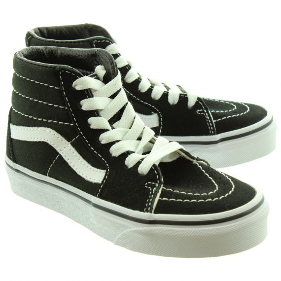 VANS Kids Sk8-Hi Boots In Black And White