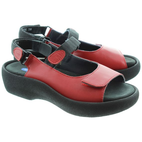 WOLKY 3204 Jewel Wolky Sandals in Red