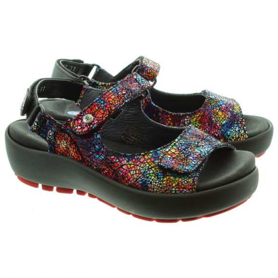 WOLKY 3325 Rio Velcro Sandals in Multicoloured