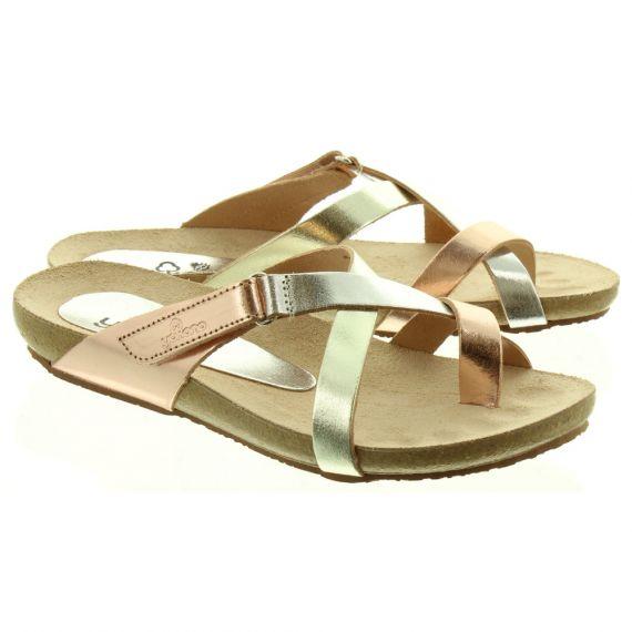 YOKONO 581 Toe Loop Sandals In Metallic Multi