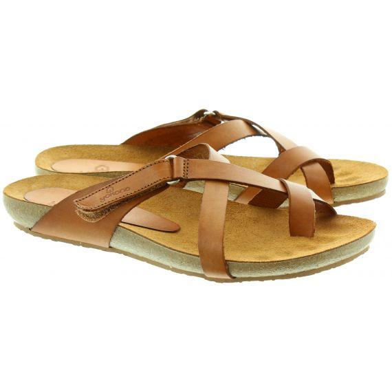 YOKONO 581 Toe Loop Sandals in Tan