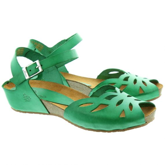 YOKONO Ladies Capri 023 Flat Sandals In Green