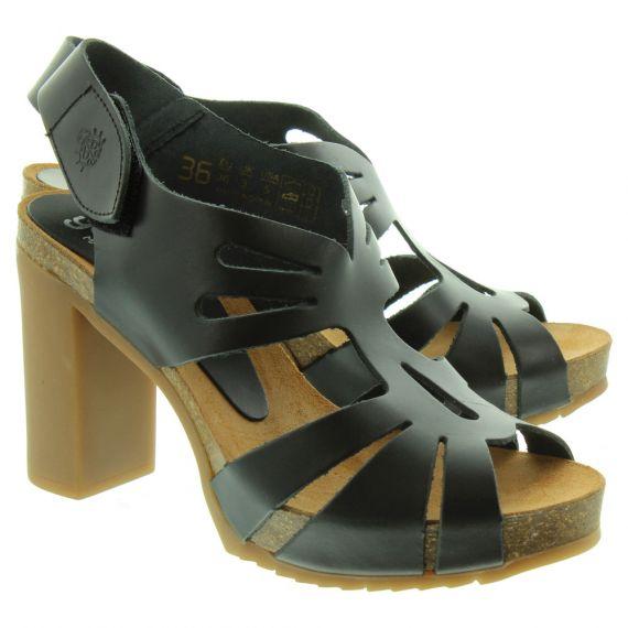 YOKONO Ladies Malibu Heeled Sandals In Black