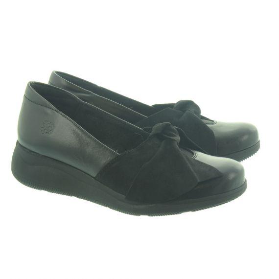 YOKONO Opalo 004 Bow Shoes In Black