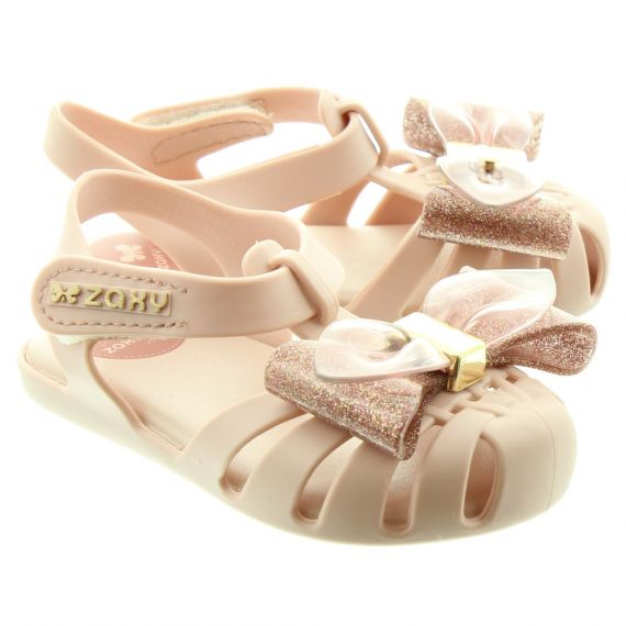 ZAXY Baby Glamour Bow  Sandals In Blush