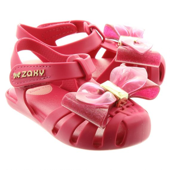ZAXY Baby Glamour Bow  Sandals In Pink