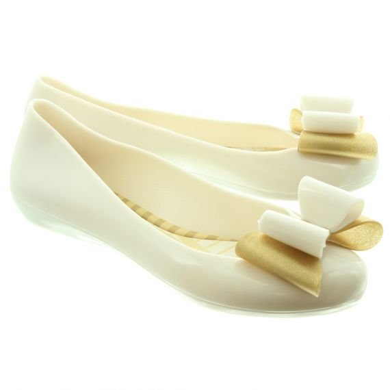 ZAXY Ladies Pop Bow 3 Shoes In Beige