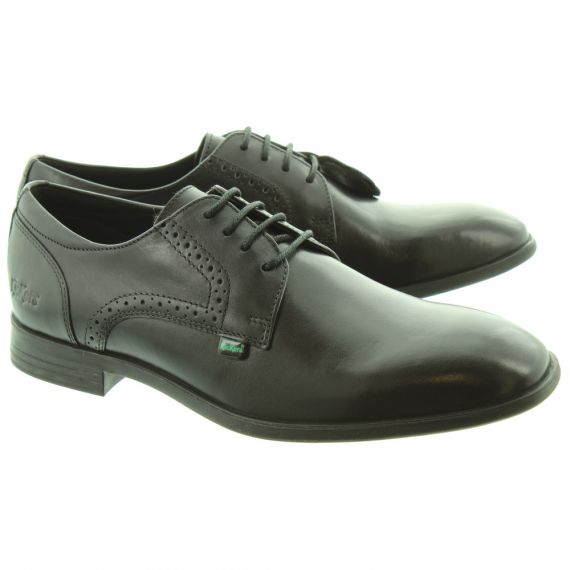 KICKERS Mens Jarle Smart Lace Shoes In Black