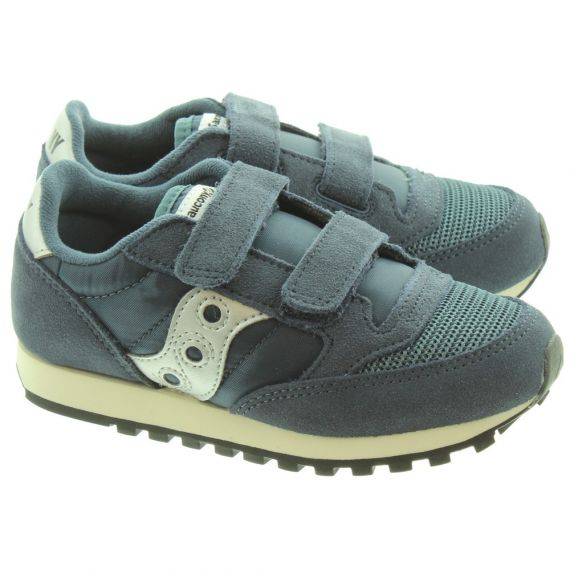 SAUCONY Jazz Kids Velcro Trainers In Navy