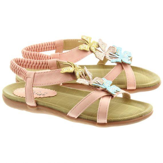 LUNAR Kids JCH007 India Butterfly Sandals In Pink