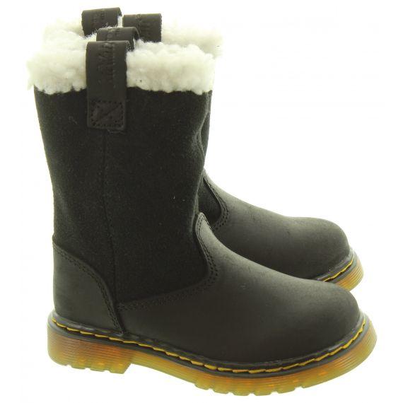 DR MARTENS Kids Juney Calf Boots In Black