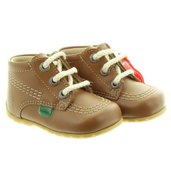 KICKERS Kick Hi Baby Core Shoes In Tan