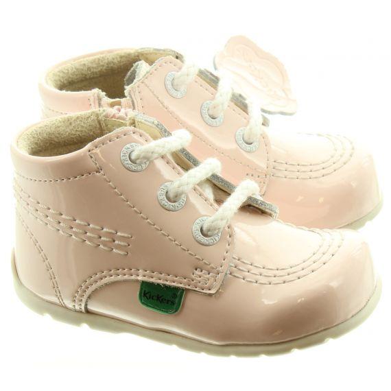 KICKERS Kick Hi Zip Baby Boots In Light Pink