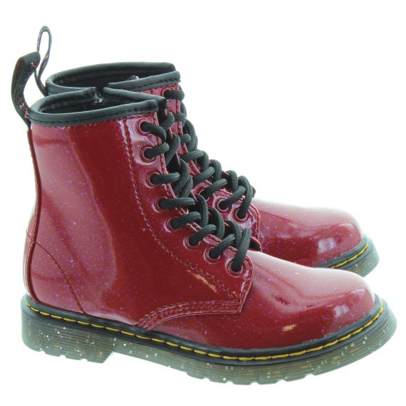DR MARTENS Kids 1460 Boot in Red Cosmic