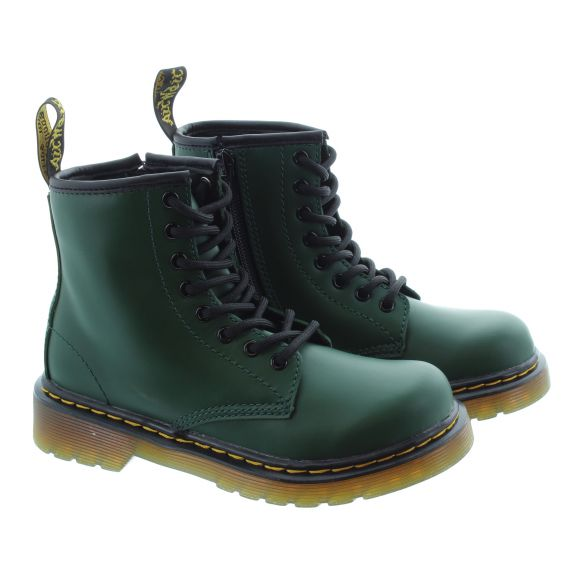 DR MARTENS Kids 1460 Boots In Green