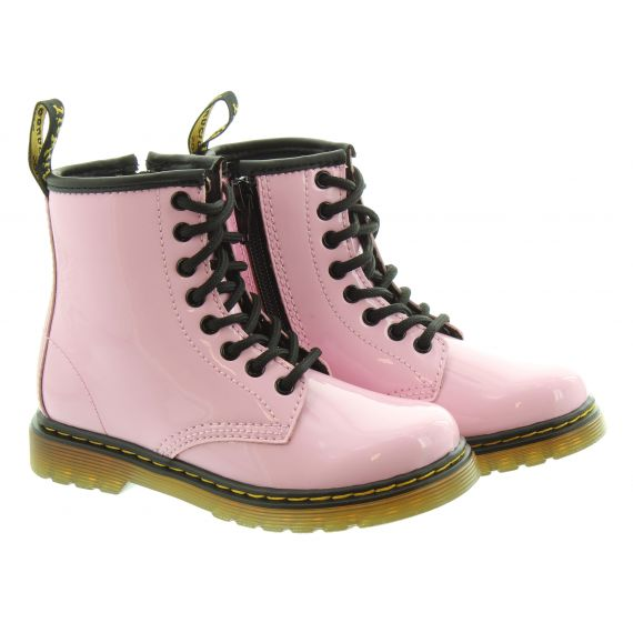 DR MARTENS Kids 1460 Boots In Patent Pink