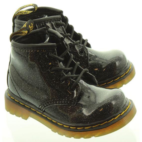 DR MARTENS Kids 1460 Glitter Boots In Black