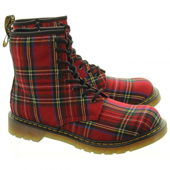 DR MARTENS Kids 1460 Tartan Boots In Tartan