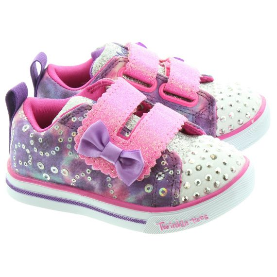 SKECHERS Kids 20147N Twinkle Toes In Purple Multi