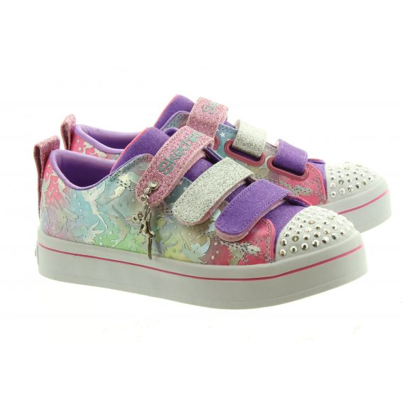 SKECHERS Kids 20263L Twinkle Toes In Lavender Multi
