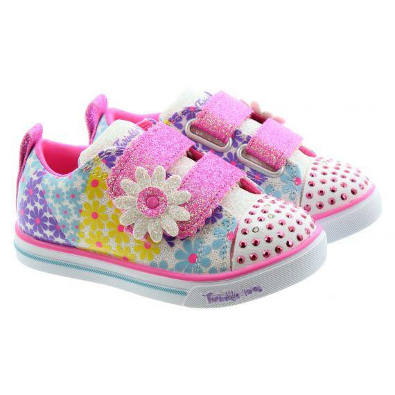 SKECHERS Kids 314762N Twinkle Toes Shoes In White Multi