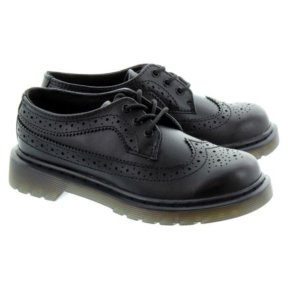 DR MARTENS Kids 3989 Brogue Shoes In Black