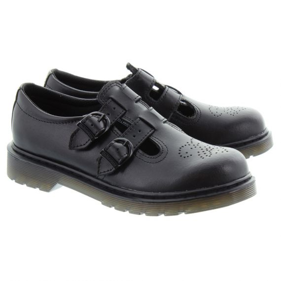 DR MARTENS Kids 8065 Buckle Shoes In Black