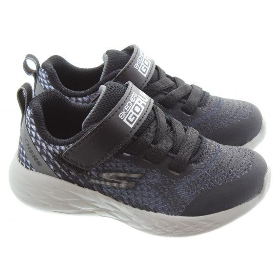 SKECHERS Kids 97858N Go Run 600 Trainers In Black Charcoal