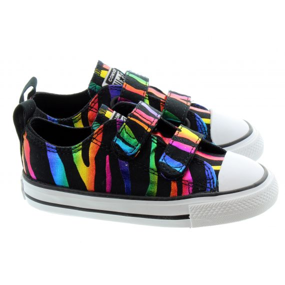 CONVERSE Kids All Star 2 Velcro In Black Multi