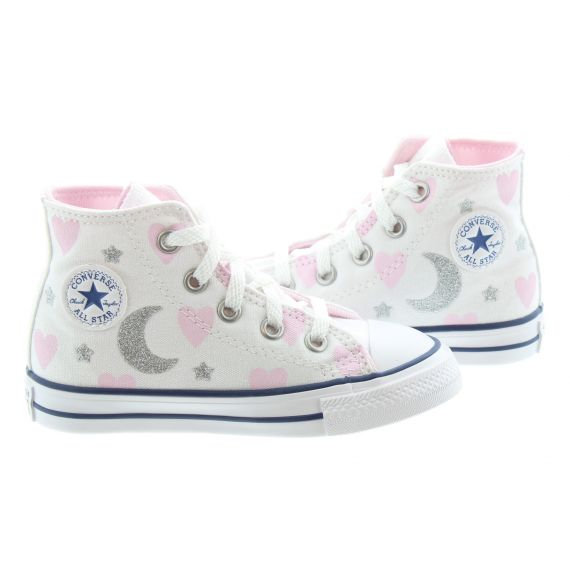 CONVERSE Kids All Star Hi Love Boots In White