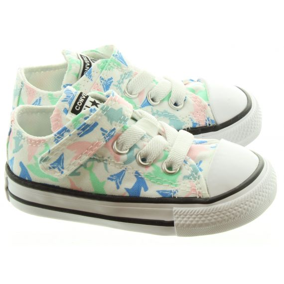 CONVERSE Kids Allstar 1V Ox Shoes In Mint