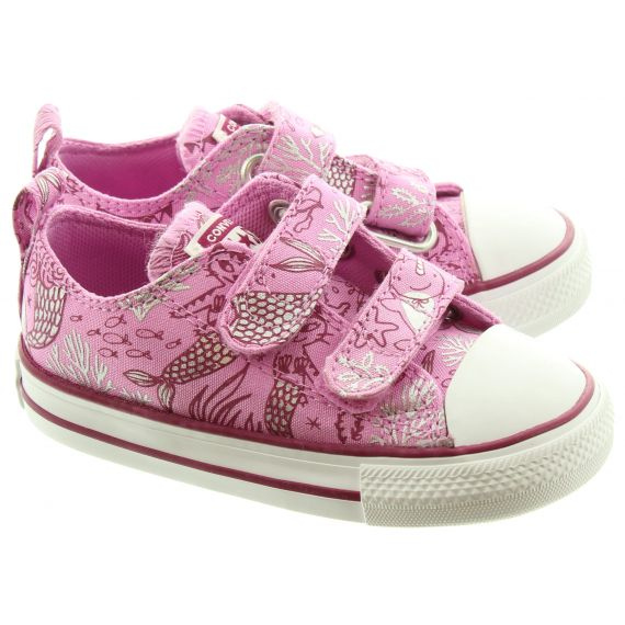 CONVERSE Kids Allstar 2 Velcro Shoes In Pink