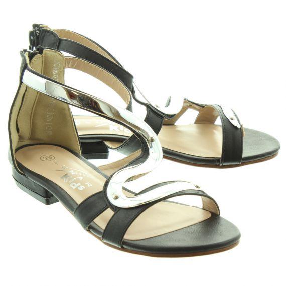 LUNAR Kids Andie JLC003 Sandals In Black