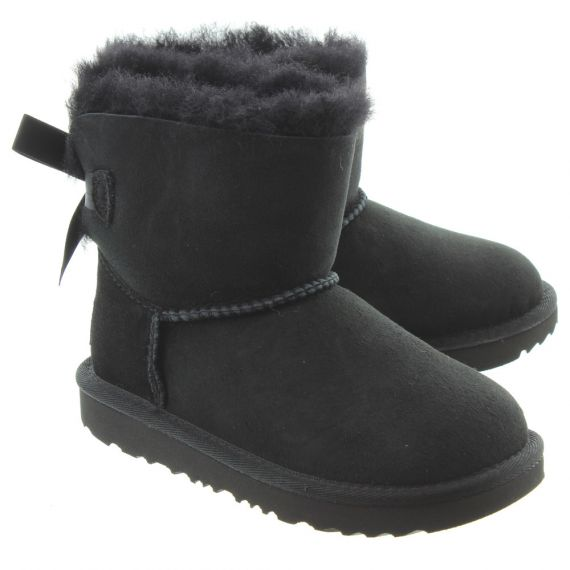 UGG Kids Bailey Bow Mini 2 Boots In Black