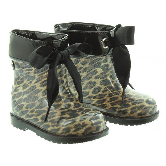 IGOR Kids Bimbi Leopard Wellies in Black
