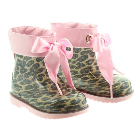 IGOR Kids Bimbi Leopard Wellies In Rose