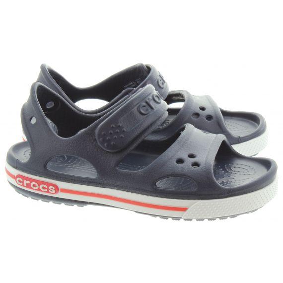 CROCS Kids Crocband 2 Sandal in Navy