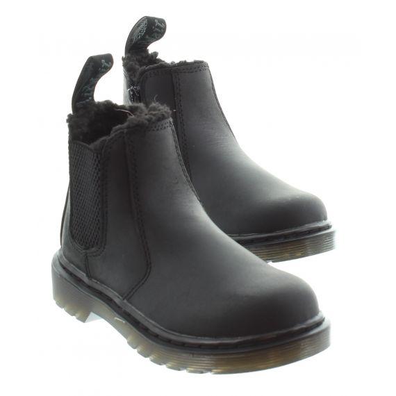 DR MARTENS Kids Dr Martens Leonore Ankle Boots in Black