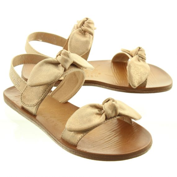 BLOWFISH Kids Dynk Bow Sandals In Rose Gold